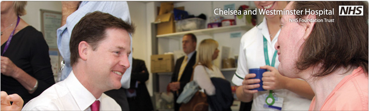 Nick Clegg visits Chelsea and Westminster for first NHS 'listening event'