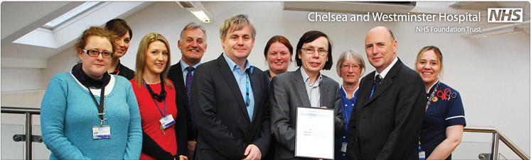Chelsea and Westminster Hospital wins highly commended award for improved weekend readmission rates