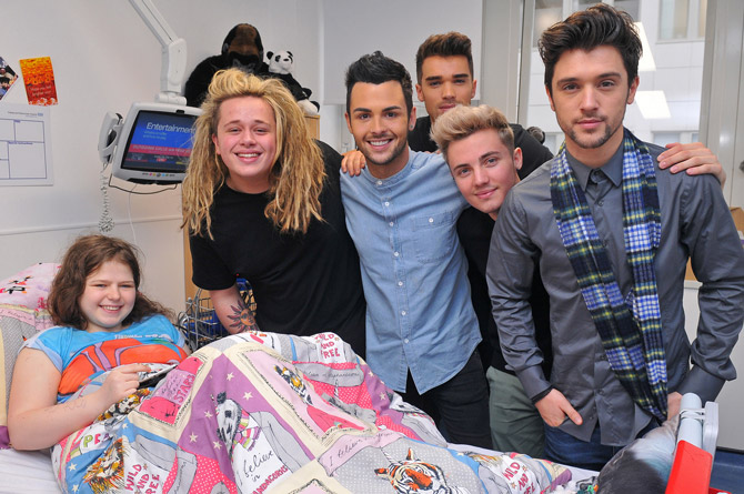 Union J joins Christmas party at Chelsea Children's Hospital