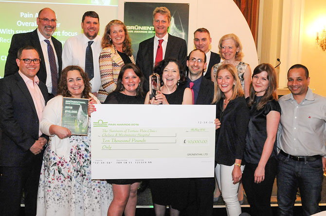 Chelsea and Westminster Hospital's Survivors of Torture Clinic  Wins at Prestigious Grünenthal Pain Awards