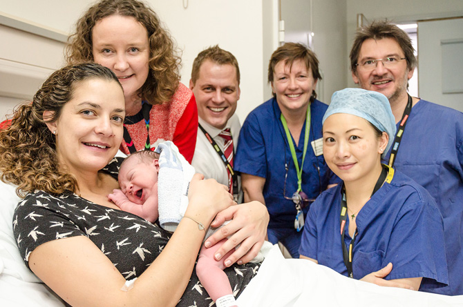 Chelsea and Westminster team to the rescue when mum unexpectedly gives birth in hospital car park