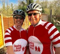 Hospital staff take on 100 mile cycling challenge for bowel cancer