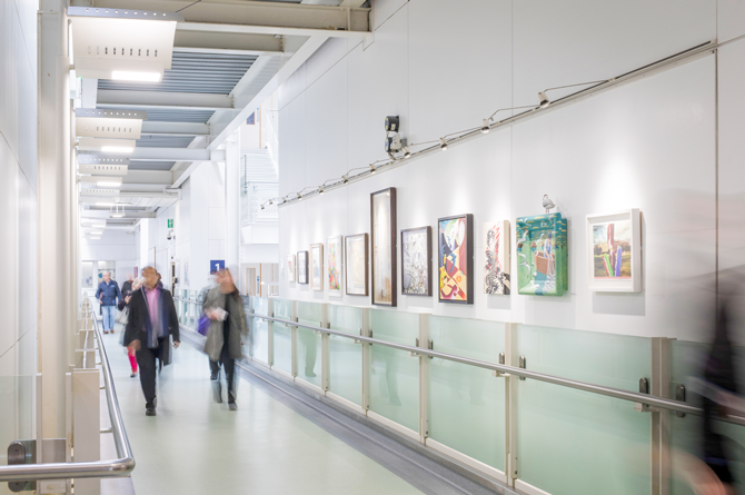 Chelsea Arts Club exhibition at Chelsea and Westminster Hospital