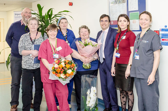 Much loved member of staff retires after 37 years loyal NHS service
