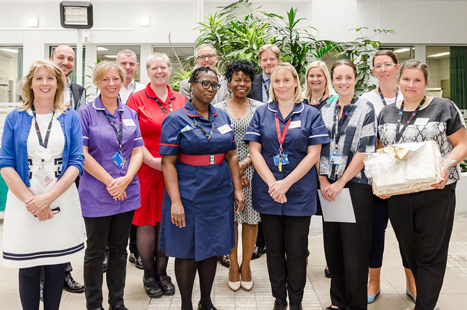 NHS England visit Chelsea and Westminster Hospital to hear about our innovations