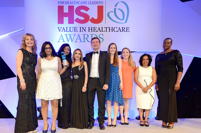 Paediatric team wins HSJ Value in Healthcare award