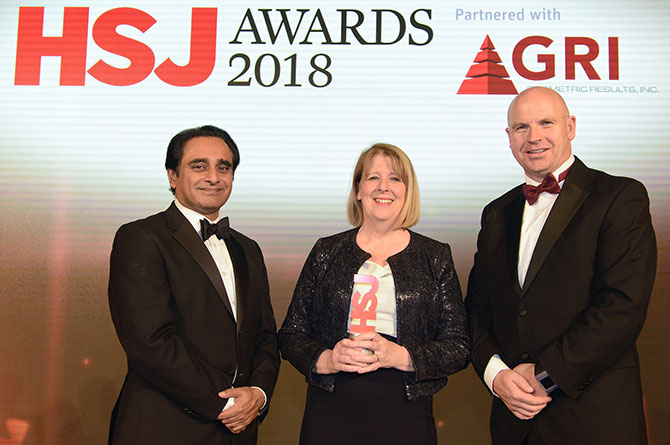 Chief Executive Lesley Watts wins prestigious HSJ CEO of the year award