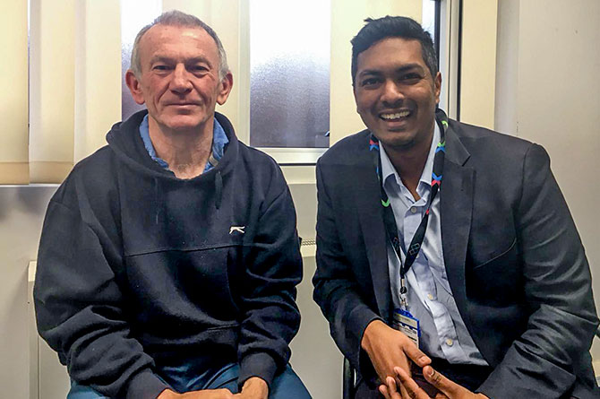 Success as total hip replacement patient allowed home within 24 hours