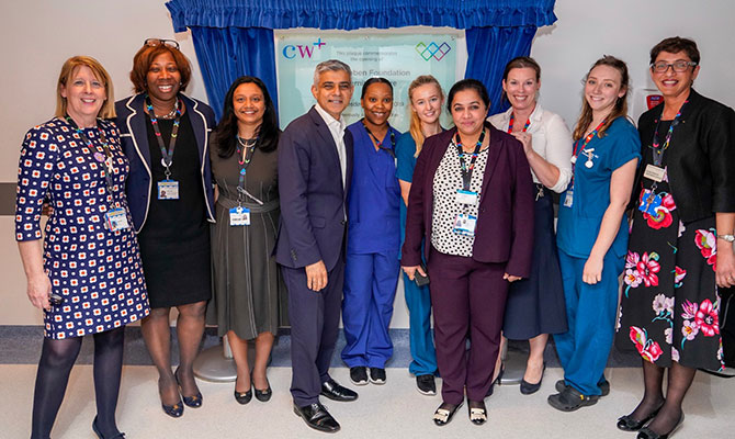 Mayor of London attends opening of new maternity centre at Chelsea and Westminster Hospital